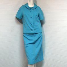 Vintage R & K Originals 1960s Teal Blue Jacket by VintageCreekside, $65.00