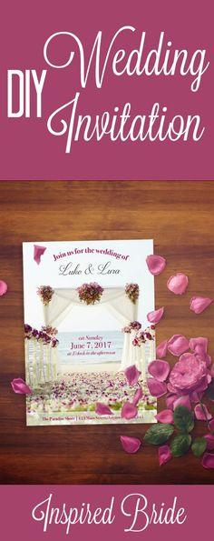 DIY Wedding Invitation | On A Budget Wedding Ideas by Inspired Bride