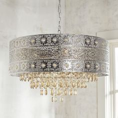Large Bohemian Crystal Chandelier. Lighting is an…