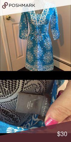 Beautiful summer dress by Ann Taylor Gorgeous linen/cotton blend dress from Ann Taylor. Great for all summer and for vacation! Ann Taylor Dresses