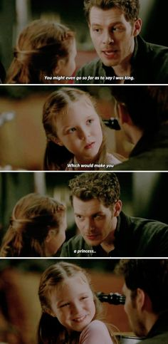the cutest thing ever look at hopes smile! klaus and hope is the most important relationship <3 #klope #theoriginals