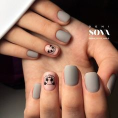 Diseños de uñas que levantarán tu estado de ánimo si estás deprimido - uñas decoradas para niñas - Matte Nails, Diy Nails, Acrylic Nails, Love Nails, Pretty Nails, Manicure E Pedicure, Bridal Pedicure, Cute Nail Art, Nagel Gel
