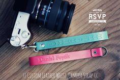 Custom correa de pulsera de cuero de la cámara, hecho a mano de regalo personalizado, mancha menta rosa, tribal, inconformista, sin espejo, personalizados iniciales del nombre de texto