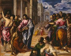 The Miracle of Christ Healing the Blind, possibly ca. 1570  El Greco (Domenikos Theotokopoulos) (Greek, 1541–1614)