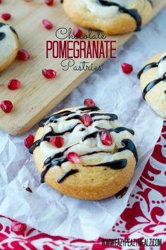 Chocolate Pomegranate Pastries