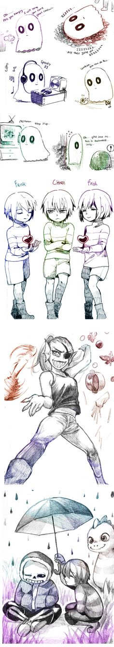 Undertale- doodles 2 by christon-clivef on DeviantArt http://christon-clivef.deviantart.com/art/Undertale-doodles-2-608338283
