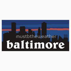 Baltimore, skyline silhouette