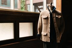 The Eidos Napoli English Rib Field Coat Cardigan with the Robert Polo. #Menswear #EidosNapoli