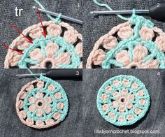 North Sea Mandala - Free Pattern North Sea Mandala - Free crochet pattern - by LillaBjornCrochet Crochet Mandala Pattern, Crochet Stitches, Crochet Gratis, Cute Crochet, How To Start Knitting, Learn To Crochet, Yarn Crafts, Crochet Flowers, Crochet Motif