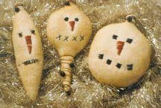 snowman ornies