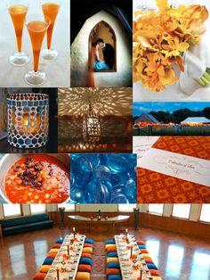 Cobalt and Burnt Orange Weddings :)  #MoroccanWeddingColors