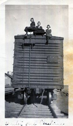 Vintage Photo..Train Hoppers, 1910's Original Found Photo, Vernacular Photography by iloveyoumorephotos on Etsy