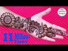 Learn Easiest Henna Mehndi Design   Step by Step Mehendi Designs for Hand   MehndiArtistica - YouTube