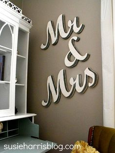 Wall Sign Decor Glamorous Mr & Mrs Sign For Home Decor Mr And Mrs Sign Forzcreatedesign Decorating Inspiration