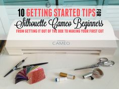 If you want to avoid being one of those Silhouette CAMEO beginners who leaves their Silhouette cutting machine in the box for days or weeks or months or years (yes, years!) because they don't know whe