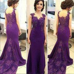 purple lace mermaid elegant 2018 long prom dress, PD8628 #fashion#promdress#eveningdress#promgowns#cocktaildress