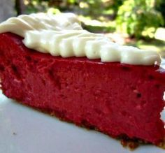 "Red Velvet Cheesecake: ""This cake was gobbled up in less than 10 minutes! I love the cheesy, cocoa taste. I have another one baking right now!"" -Chef #1374492"