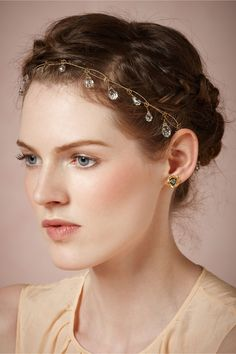 Dewdrops Halo in Shoes & Accessories Headpieces at BHLDN