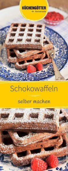 Dieses Rezept für Schoko-Waffeln ist genau das richtige für alle Schokoladen-Fans.