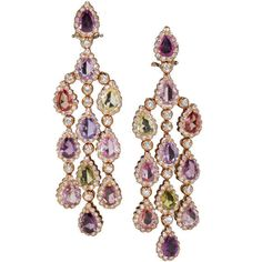 1stdibs - 18 k colored stone chandelier earrings explore items from 1,700  global dealers at 1stdibs.com