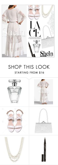 """shein white dress"" by veronica7777 ❤ liked on Polyvore featuring Avon, Monsoon, Anne Klein, Smith & Cult, lacedress and shein"