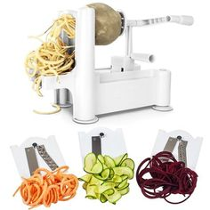 Ktaxon Spiral Vegetable Slicer Spiralizer Veggie Chopper Mandolin Cutter Kitchen Tool