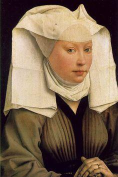 """""""Lady Wearing a Gauze Headdress """" (c. 1435) by Rogier van der Weyden"""