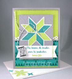 L'étoffe de Noël (Christmas Quilt) stamp set and Quilt Builder Framelits Dies from Stampin' Up! - Designed by Cindy Major