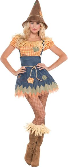 Adult Sultry Scarecrow Costume - Party City Canada