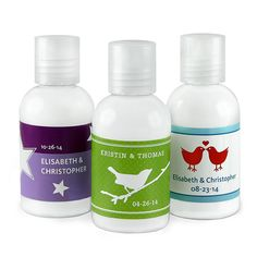 Personalized Hand Lotion Favor - maybe with lavender flavor?