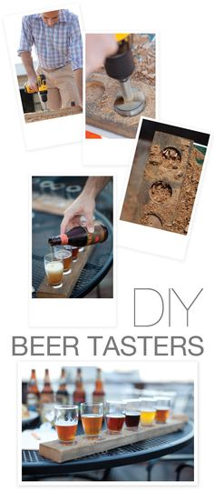 """Easy Instructions on how to make your own beer tasting boards out of 1–1 1/2"""" thick barn wood boards."""