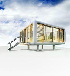 Maisons en bois mod le cubik 03 vue en hauteur rez de for Micro maison bois