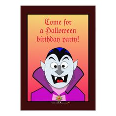 Vampire Birthday Invitations Halloween Birthday Party Invitations Cute Vampire