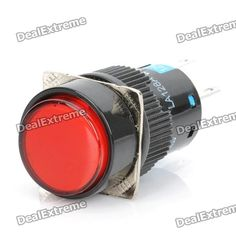 DIY 5-Pin Round Push Button Switch Module w/ Red Indicator - Black (DC 12V). Color: Black - Material: Polyamide 6.6 (PA66) - Voltage: DC 12V - Current: 5A - 5-pin connector - With red LED indicator - Perfect for DIY project. Tags: #Electrical #Tools #Switches #Adapters
