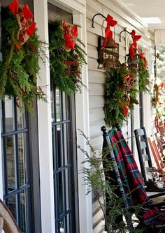 Front Porch ready for the Holidays....