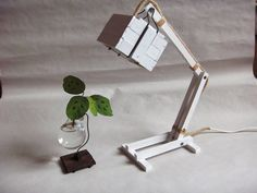 White Wooden Desk Table Working Lamp by Paladim on Etsy, $38.00