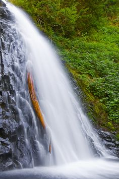 Martha's Falls in Mount Rainier National Park - it is impossible to see the entire drop of 665 feet – this is just the second to last drop of about 60 feet;  photo by El Justy, via Flickr