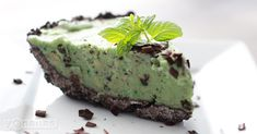 Mint and chocolate fold together into a chocolate cookie crust creating a delicious, dairy-free frozen treat the whole family will enjoy.