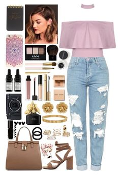 """""""//Boyfriend Jeans II//"""" by kcliffxx on Polyvore featuring Boohoo, Topshop, Dolce&Gabbana, NYX, Bobbi Brown Cosmetics, AERIN, Jouer, Too Faced Cosmetics, D&G and Smashbox"""