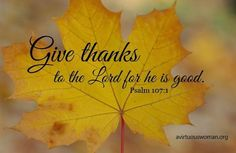 With thanksgiving in my heart....
