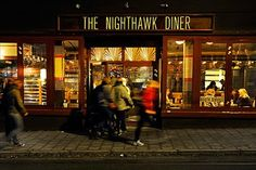 Nighthawk Diner, Oslo. Like a Classic American diner. Casual and relaxed. Super nice burger and milkshake. Nice for lunch.