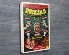Dracula 1931 $24.00–$698.00 This exclusive canvas art print features the poster of one of the most famous vintage horror movie 1931 Dracula. As with all art on this site, we offer these prints as stretched canvas prints, framed print, rolled or paper print or wall stickers / decals.http://www.canvasprintsaustralia.net.au/  #banksyprints #canvascollage #CanvaswallartAustraliahigh