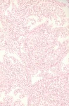 Paisley Wallpaper - WALLPAPER - PAISLEY - Pink and Metallic Pearl Paisley Wallpaper - Huge Savings and Inventory