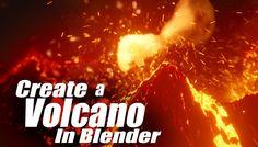 Blender – Creating a Volcano Eruption Tutorial