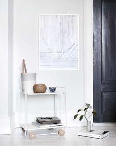 poster, silke bonde, moaai.com, hafart.pl, akwarela, dekoracja ścian, duński design, błękity, niebieski, artykuły wyposażenia wnętrz, plakat