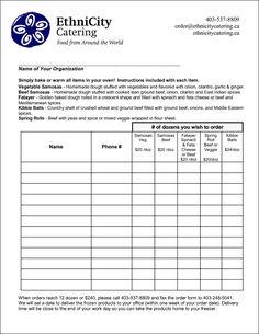 food order form template besttemplates123 - Food Order Form