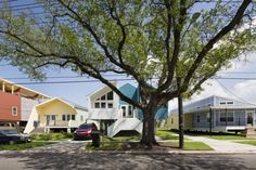 10 Years After Hurricane Katrina, Brad Pitt's Colorful Houses Enliven New Orleans  - CountryLiving.com
