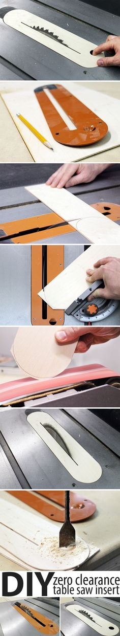 Making your own zero clearance insert is easy, and you can even use the table saw to make it!