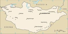 Mongolia Map with Cities - Free Pictures of Country Maps Mongolia, U.s. States, United States, Kublai Khan, Gobi Desert, Geography For Kids, Genghis Khan, Free Maps, National Symbols