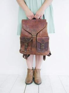 The Lexie brown leather rucksack | Vintage Child £60